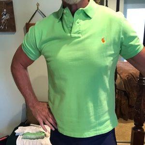 Polo Ralph Lauren Green Polo Slim Fit Size L